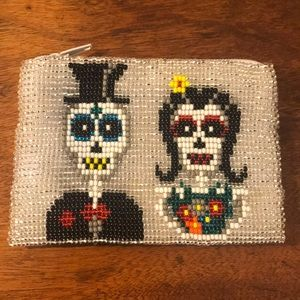 Day of the Dead Beaded Pouch